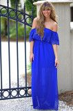 The Bella Maxi Dress: Royal Blue