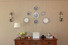 Plates hung on the wall