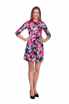 Платье со складкой в яблоки lilo