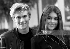 Presley Gerber and Kaia Gerber arrive at the premiere of Lifetime's 'Sister Cities' at Paramount Theatre on August 31, 2016 in Hollywood, California.
