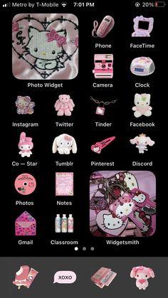 Hello Kitty Iphone Wallpaper, Iphone Wallpaper App, Ios Wallpapers, Aesthetic Iphone Wallpaper, Hello Kitty Backgrounds, Sanrio Wallpaper, Kawaii Wallpaper, Iphone App Design, Iphone App Layout