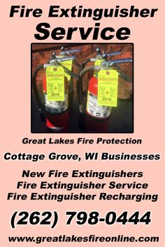 Fire Extinguisher Service Cottage Grove, WI (262) 798-0444We're Great Lakes Fire Protection.. The Main Source for Fire Protection for Wisconsin Businesses. Call Today!  We would love to hear from you.