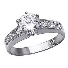 Bling Jewelry Sterling Silver Channel Set CZ Engagement Ring - Size 6 - For love that shines through eternity. Surprise her with this beautiful NY Ave Designer Inspired Engagement Ring Composed with solid sterling silver and a Engagement Ring Sizes, Designer Engagement Rings, Engagement Jewelry, Vintage Engagement Rings, Diamond Engagement Rings, Tacori Wedding Rings, Bridal Rings, Wedding Bands, Sterling Silver Jewelry