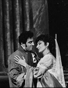 Renato Cioni e Maria Callas.  Ópera Tosca (Puccini) Londres, 1965.