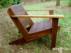 Cool modern take on the adirondack by Atlanta-based furniture maker