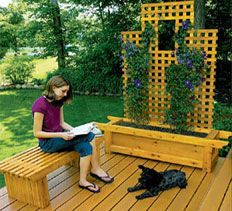 DIY Landscaping U0026 Garden, Woodworking Plans U0026 Projects   Deck Bench And  Planter Project Plan