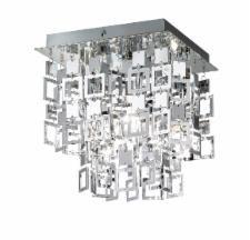 Trio Quadrato Plafondlamp Chroom