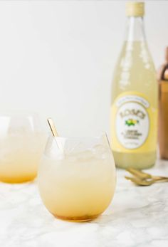 Lemon and Honey Gin & Tonic made with Roses Lemon Cordial - an easy drink that is perfect for summer and bursting with flavour