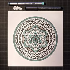 "Mandala Designs, woerm: Daily Mandala #7 ""Our task must be to..."