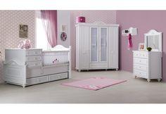 Κοριτσίστικο Vintage Δωμάτιο με Κούνια που Γίνεται Κρεβάτι