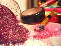 #glitter #pink #makeup