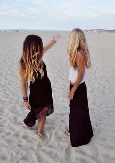 Summer! Beach! Wavy hair! Cute outfits!