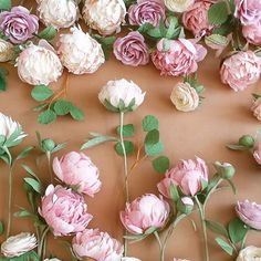 ...love this setup... #paperflowers #paperpeonies #pastelcolors #crepepaperflowers #handmade