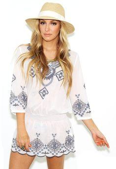 Raina West Coast Wardrobe Navajo Tunic in White on shopstyle.com