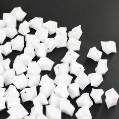 White Acrylic Crushed Ice Decorative Gems - 3 Cups