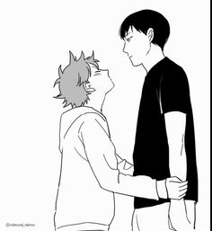 KageHina being cute AF. From @nimoni_nimo 's Twitter !