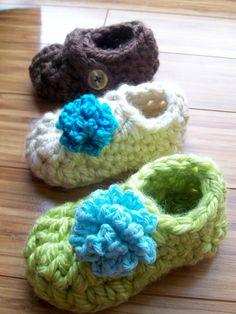 Cute Crochet Toddler Baby Slipper Booties