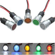 [US$4.99] 16mm 12V LED Panel Pilot Dash Light Indicator Warning light Car Boat Signal Lamp  #16mm #boat #dash #indicator #lamp #light #panel #pilot #signal #warning