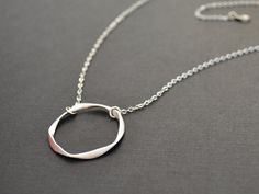 simple swirl ring necklace