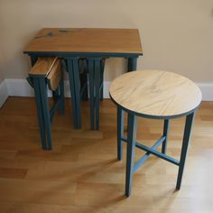 "Upcycled Furniture | Upcycled Furniture >> Adam's lovely Nana has exactly this ""nest"" of tables <3"