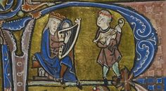 "Harp and citole. From: 'St Omer' or 'Rede' Psalter"". Bodleian Library, MS 98, Folio/page: 7r Date: 1201 - 1300 http://digital.bodleian.ox.ac.uk/inquire/p/9da1b4c2-2c04-40e9-a171-dc4b656af141"