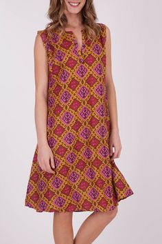 Ellis & Dewey Diamond Print Dress - Womens Knee Length Dresses - Birdsnest Online Store