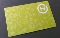 The green (like leaves) design of the business card is as appealing as the vegetarian food at Hiltl.