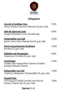 Einen schoenen guten Morgen an alle. Diese Woche gibt es Mittags:    Brusko griechisches Grill Restaurant   www.brusko.de #Mittagslunch #Businessluch #Mittagsmenu #Pause #Brusko #griechischesRestaurant #Muenchen #Schwabing #Leopoldstrasse #Grieche #Restaurant #Eventlocation #griechisches #Grill