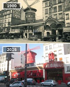 """""""Moulin Rouge"""", Paris 13 Examples of How Fast the World Is Changing Then And Now Pictures, Before And After Pictures, Tour Eiffel, Dresden, Saint Mathieu, Old Paris, Before After Photo, Paris Ville, Paris City"""