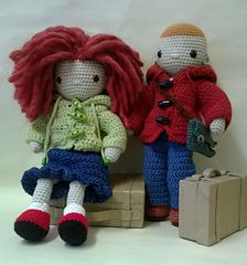 This pattern came as a challenge from my good friend knitting Annie (her name's Annie and she knits!). It's a doll pattern that is easy to make yet has lots of scope for imagination.