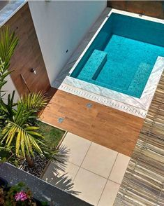 32 Best Swimming Pool Designs [Beautiful, Cool, and Modern] 9 ~ Home of Magazine Small Backyard Pools, Backyard Pool Designs, Small Pools, Backyard Garden Design, Swimming Pools Backyard, Swimming Pool Designs, Dipping Pool, Small Pool Design, Outdoor Rooms