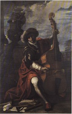c. 1650—Italy: Swiss-born artist Pier Francesco Mola, Young Musician Playing a…
