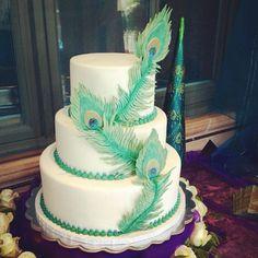 Instagram photo by @ohmaggoe #peacock #cake #wedding #2good2b #fondant