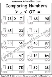 Comparing Numbers –  2 Worksheets