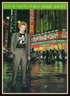 """""""This day in history. This is one of 2 shows recorded for the 'Live in Tokyo' album"""" New Wave Music, The New Wave, Irish Rock, Johnny Rotten, Lost In Translation, Great Albums, Music Images, Music Film, Uk Music"""