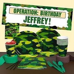 Need ideas for an Army Camo birthday party? On this page you will find tips for decorating your room and table, activities and games, party food,...