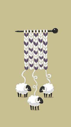 织毛衣~ LINE 换&……_来自安安写意的图片分享-堆糖