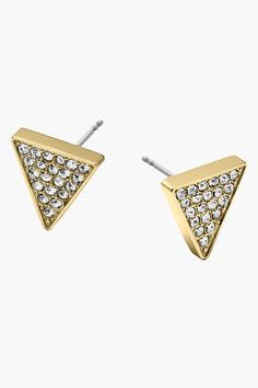 Pave Triangle Stud Earrings by Michael Kors on @nordstrom_rack