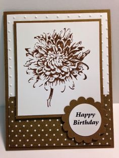 Blooming with Kindness, Birthday Card, Stampin' Up!, Rubber Stamping, Handmade Cards, Stamp a Stack Idea, Stamp Camp Idea