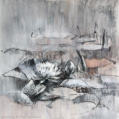 Водяные лилии 04 Смешанная техника, бумага Уголь - это отдельная любовь. Пастель - это цвет, изобилие, в угле - тон и сдержанность. Иногда хочется почти монохромной медитации, тишины без изобилия цвета - вот, как сейчас. #charcoal #pasteldrawing #cansonpaper #mixmedia #art #waterlily