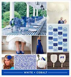 Cobalt blue and white wedding