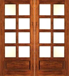 AAW Inc. Rustic P/B Rustic French Doors 8 Lite Solid Rustic French Double Door and Two Sidelites with Panel Bottoms French Door Shutters, French Door Curtains, French Doors Patio, Patio Doors, Exterior Door Colors, Exterior Doors, Mediterranean Windows And Doors, Yellow Front Doors, Double Doors Interior