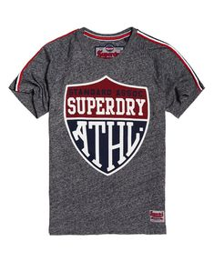 Shop Superdry Mens Inter State T-Shirt in Flint Grey Grit. Buy now with free delivery from the Official Superdry Store. Superdry Style, Superdry Mens, Tattoo T Shirts, Herren T Shirt, Branded T Shirts, Colorful Shirts, Sportswear, Shirt Designs, Graphic Tees