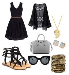"""Untitled #602"" by bri-dawsonaretogetherallthetime on Polyvore featuring Mystique, Yumi, WithChic, Givenchy, CÉLINE, Sonal Bhaskaran, Amrita Singh and Kate Spade"