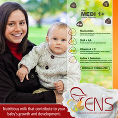 Nutritious milk that contribute to your baby's growth and development. Essential Nutritional Support is the key to your baby's early growth & development.  Contact our customer service for more information on 1300 ENS ENS - 1300 367 367. #infantFormula #Milk #ENS #ENSMedi #Baby #babycare #babymilk #babyformula #milkformula