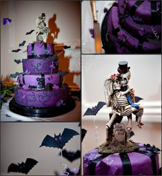 Aw, a spooky wedding cake.