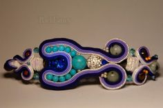 Wristbands – Soutache bracelet with beauty minerals – a unique product by RickFancy on DaWanda Soutache Bracelet, Soutache Jewelry, Gifts For Girls, Gifts For Women, Turquoise And Purple, Handcrafted Jewelry, Handmade, Christmas Gifts For Her, Bracelets