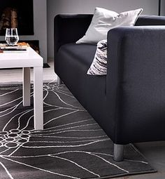 IKEA offers everything from living room furniture to mattresses and bedroom furniture so that you can design your life at home. Check out our furniture and home furnishings! Modern Carpet, Modern Rugs, Dorm Room Rugs, Ikea Rug, Large Rugs, Big Rugs, Grey Rugs, How To Clean Carpet, My Living Room