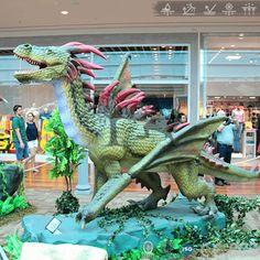 Dragon Show Adult Green Dragon Robot