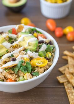 Quinoa avocado bowl